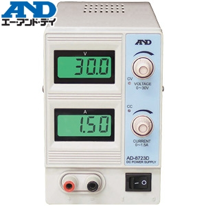 エー・アンド・ディ(A&D) AD-8723D 直流安定化電源(スリムタイプ/0~30V、0~1.5A)