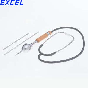 エクセル EX サウンドスコープ(聴音機) 両耳式レシーバー 2段ジョイント式/4段伸縮式(有効長:240~710mm)