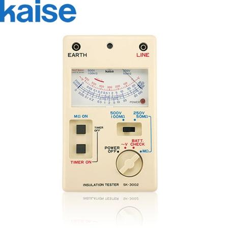 カイセ(Kaise) SK-3003 アナログ絶縁抵抗計 [500V/1000V]