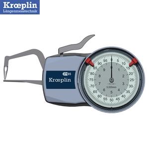 クロップリン(kroeprin) D1R10 アナログオディテスト(肉厚測定用) 測定範囲:0-10mm