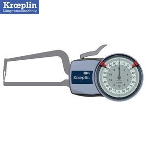 クロップリン(kroeprin) D2R20 アナログオディテスト(肉厚測定用) 測定範囲:0-20mm