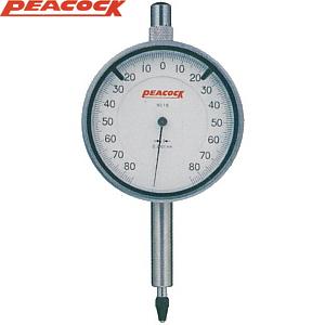 尾崎製作所(PEACOCK) 18L 指針1回転未満ダイヤルゲージ 耳金付裏ぶたタイプ