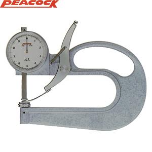 尾崎製作所(PEACOCK) J-B ダイヤルシックネスゲージ大型タイプ 特注品 上下φ50アルミ測定子仕様