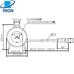 リオン(RION) EC-04C 騒音計用コード 30m(リール付)