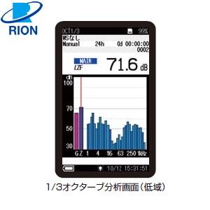 リオン(RION) NX-62RT オクターブ・1/3オクターブ実時間分析プログラム
