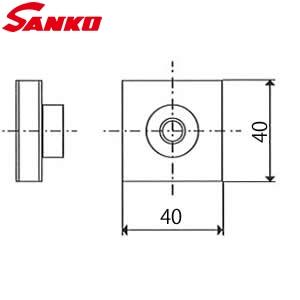 サンコウ電子 FA-4040 付着力試験治具 フィラーアタッチメント 40×40mm 10個入