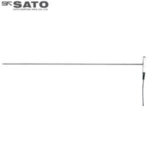 佐藤計量器 SK-1260用オプションセンサ (K熱電対) 棒状/投げ込みセンサ SK-S108K 8080-38