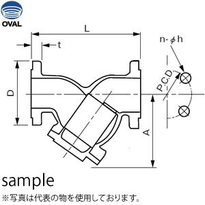 オーバル SS5278A フローペット-5G 専用ストレーナ 呼び径:20A