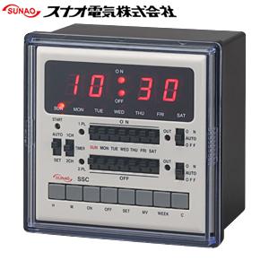 スナオ電気 SSC-916M カレンダータイマー パネル埋込型/2ch型