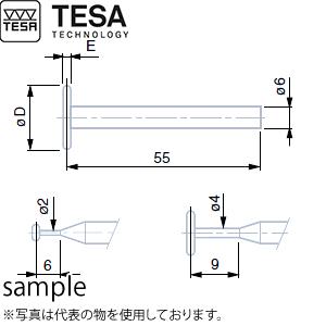 TESA(テサ) No.00760074 φ4.5mmディスク付測定子 DISC TIP PROBE TC 4.5mm