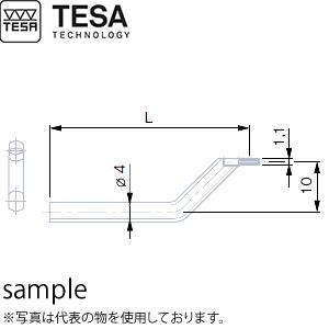 TESA(テサ) No.02660083 楕円形ピン付測定子 オフセット型 L60mm OFF-CENTRE INSERT VHG 60