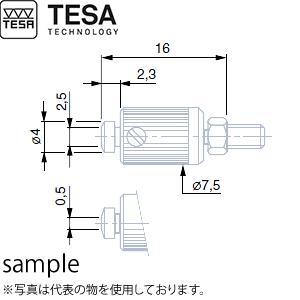 TESA(テサ) No.03510702 狭幅測定面付測定子 位置決め用ロックナット付 B0.5mm Reference : 03510702