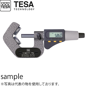 TESA(テサ) No.06030092 デジタルV型アンビル(三点接触)マイクロメーター マイクロマスター 3溝測定用(60°) MICROMASTER AS 65-80