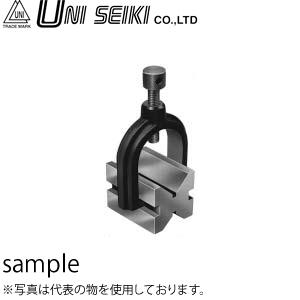 ユニセイキ 硬鋼製クランプ付Vブロック 2個1組 呼び40mm 把持能力φ30 寸法:40×40×50mm [配送制限商品]