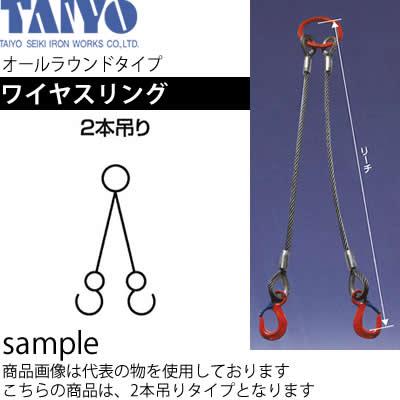 大洋製器 ワイヤスリング(2本吊) 2t×14mm×2m 品番:1011691