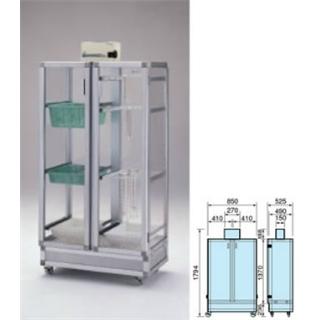 テラオカ 乾燥機付き器具保管庫 DGK-500C-A :10-1345-20 ※送料別途お見積り