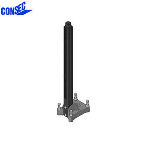 コンセック □59 標準ポールベース SB-594-1035 取付座:180×265mm 高さ:1035mm