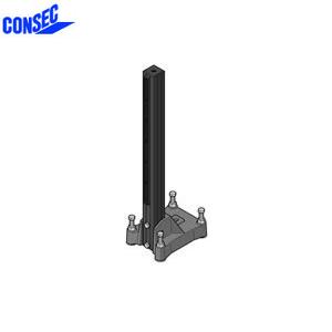 コンセック □59 標準ポールベース SB-594-800 取付座:180×265mm 高さ:800mm
