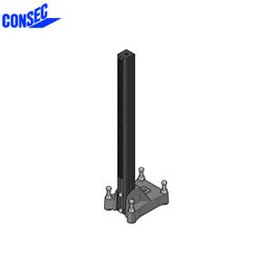 コンセック □59 標準ポールベース SB-594-900 取付座:180×265mm 高さ:900mm