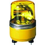 ■パトライト SKH-EA型 小型回転灯 Φ100 色:黄  〔品番:SKH-200EA-Y〕[TR-1004727]