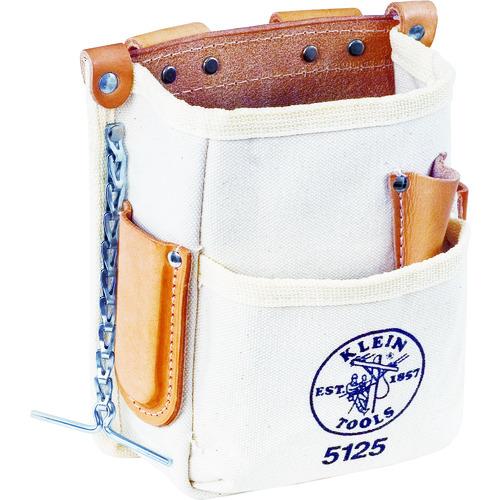 ■KLEIN ツールポーチ 5ポケット ホワイト 5125 KLEIN TOOLS社[TR-1033390]