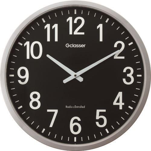 ■キングジム 電波掛時計 ザラージ黒文字盤 GDK-001K (株)キングジム[TR-1140992]