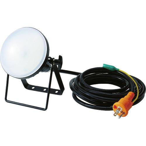■TRUSCO LED投光器 DELKURO 20W 5m アース付 2芯3芯両用タイプ RTLE-205EP トラスコ中山(株)[TR-1141050]