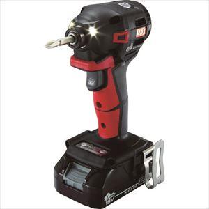 ■MAX 18V充電インパクトドライバセット(アカ)2.5Ah PJ-ID152R-B2C/1825A マックス(株)[TR-1145075]