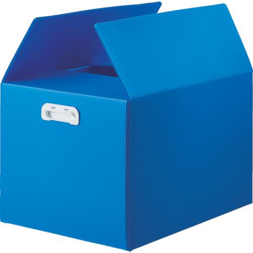 ■TRUSCO ダンボールプラスチックケース 5枚セット B3サイズ 取っ手穴なし ブルー TDP-B3D-5B トラスコ中山(株)[TR-1145741] [個人宅配送不可]
