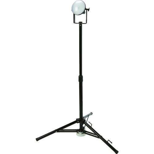 ■TRUSCO LED投光器 DELKURO 三脚タイプ 1灯 20W 10m アース付 2芯3芯両用タイプ RTLE-210EP-SK トラスコ中山(株)[TR-1145840]