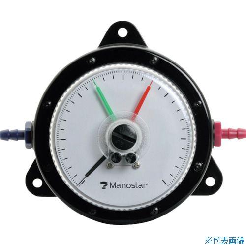 ■マノスター 微差圧計 マノスターゲージ <表面形・置針2本付> 計測範囲0~30kPa WO81FT30E [TR-1148468] [代引不可商品]