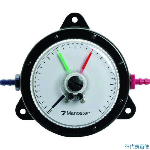 ■マノスター 微差圧計 マノスターゲージ <表面形・置針2本付> 計測範囲0~1000Pa WO81FT1000D [TR-1148479] [代引不可商品]