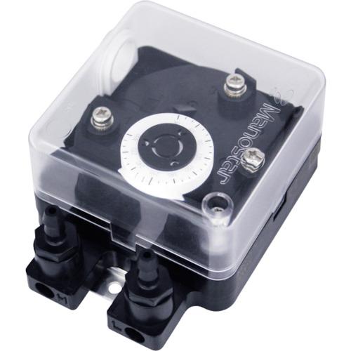 ■マノスター 微差圧スイッチ マノスタースイッチ <口金交換型 上限設定用 水平取付> MS99HC500DH [TR-1148522]