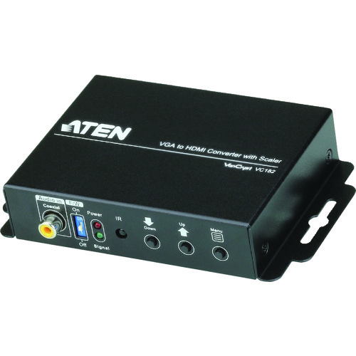 ■ATEN ビデオ変換器 VGA to HDMI / スケーラー搭載 / オーディオ対応  〔品番:VC182〕[TR-1153010]