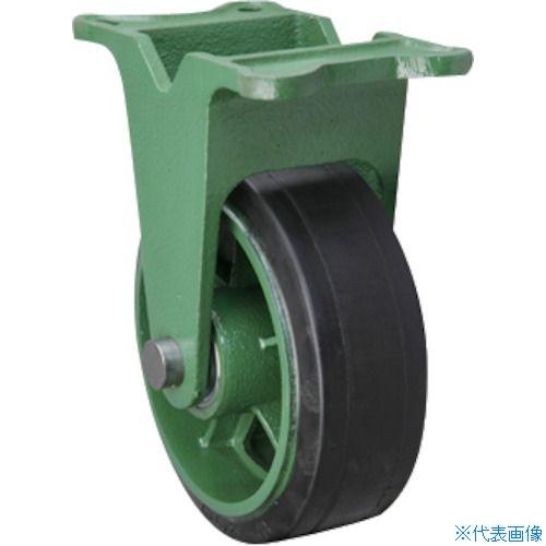 ■東北車輛製造所 幅広型固定金具付ゴム車輪 150X65 150X65TKB [TR-1156359] [送料別途お見積り]