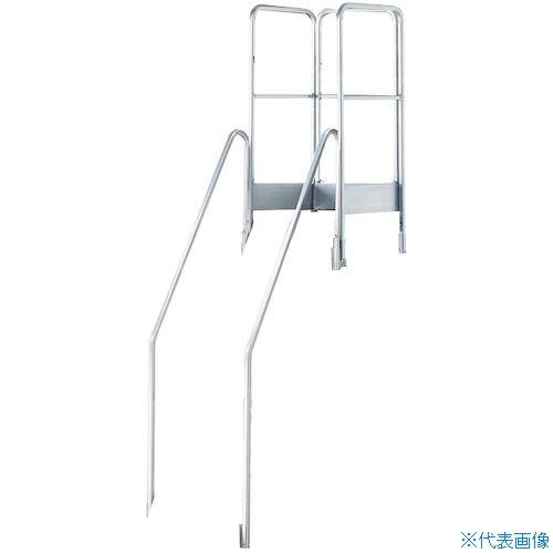■TRUSCO TDAD用フルセット手すり 高さ900MM 本体高さ2.10M用  〔品番:TDAD-TF-210〕[TR-1157862]【大型・重量物・個人宅配送不可】