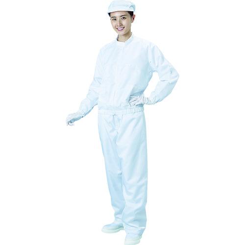 ■ブラストン 防塵ジャケット(立衿)-白-Lサイズ   〔品番:BSC-42001-W-L〕[TR-1158264]
