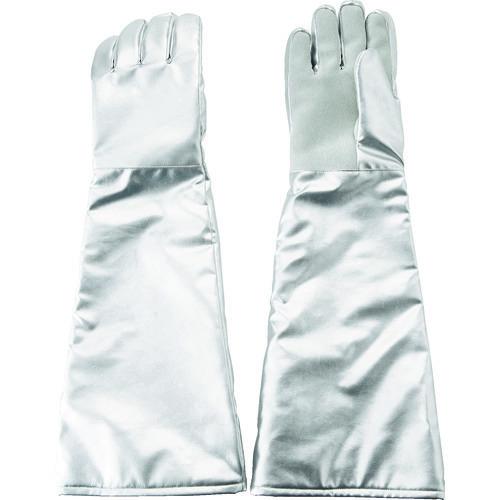 ■TRUSCO 遮熱・耐熱手袋 ロング 手のひら牛床革補強付 TMT-767FALT トラスコ中山(株)[TR-1160687]