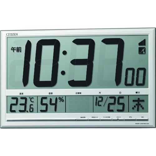 ■シチズン 電波時計(掛置兼用) 8RZ200-003 リズム時計工業[TR-1164932]