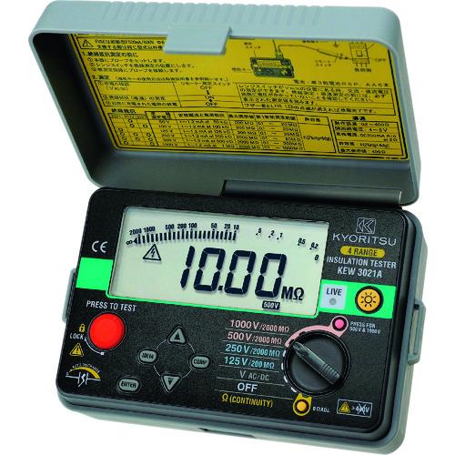 ■KYORITSU 3021A デジタル絶縁抵抗計 KEW3021A 共立電気計器(株)[TR-1256445]