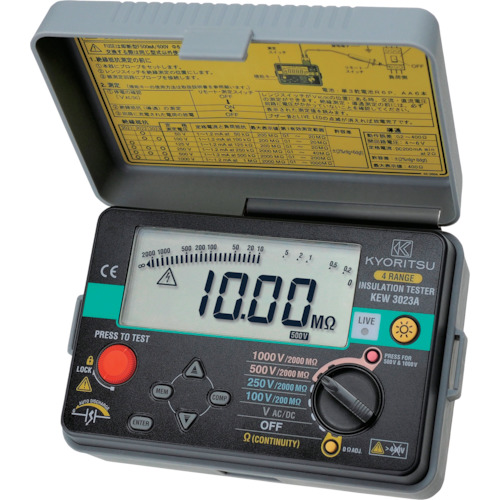■KYORITSU 3023A デジタル絶縁抵抗計 KEW3023A 共立電気計器(株)[TR-1256447]