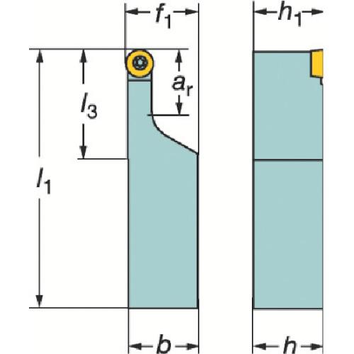 ■サンドビック コロターン107 ポジチップ用シャンクバイト SRDCL [TR-1281615]