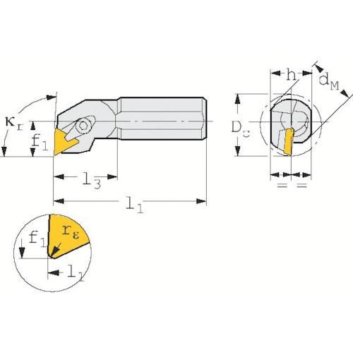 ■サンドビック T-Max S ポジチップ用ボーリングバイト  〔品番:S20S-CTFPR〕[TR-1286579]