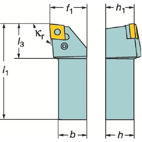 ■サンドビック T-MAX P ネガチップ用シャンクバイト  〔品番:PCLNL〕[TR-1368621]