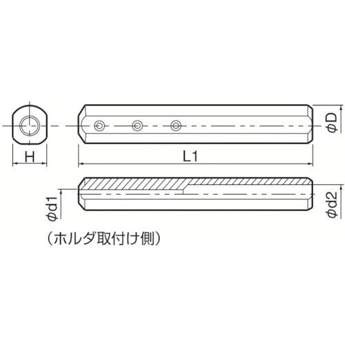■京セラ 内径加工用ホルダ SH1225-150 京セラ(株)[TR-1427571]