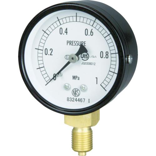 ■長野 普通形圧力計 A枠立型 Φ60最小目盛0.200 AA10-121-10.0MP 長野計器[TR-1580582]