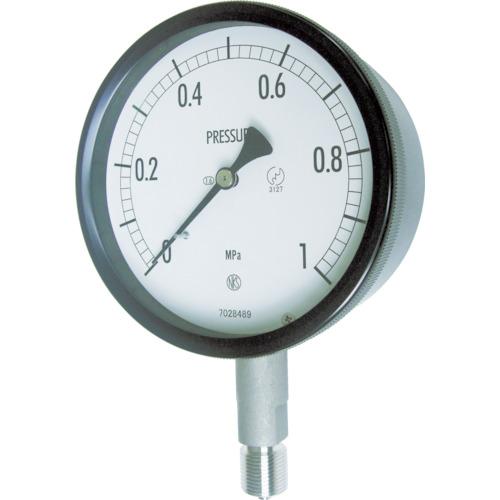 ■長野 密閉形圧力計 A枠立型 Φ100 最小目盛0.002 BE10-133-0.1MP 長野計器[TR-1693786]
