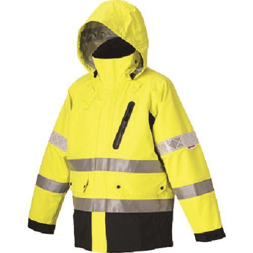 ジャケット3L ■つくし 蛍光イエロー 〔品番:TY-71Y3L〕[TR-1847788][送料別途見積り][法人・事業所限定][外直送] 高視認性防護服(クラス3)