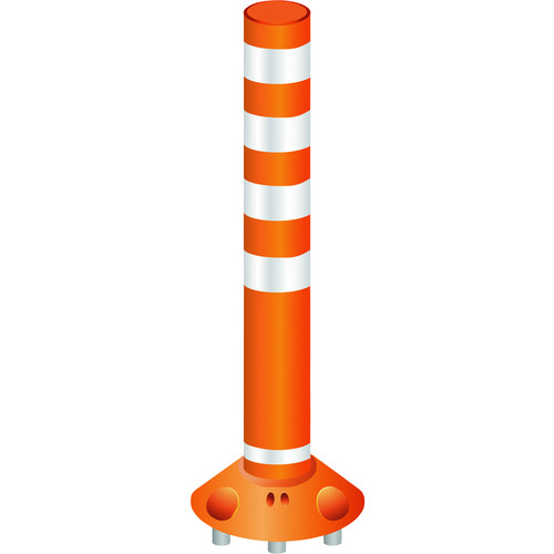 グリーンクロス 安全コーン ■グリーンクロス ラウンドポスト250着脱三本脚 チープ RP-B1000-25オレンジ 法人 〔品番:6300004059〕 TR-2125209 大幅にプライスダウン 外直送元 事業所限定