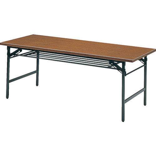 ■TRUSCO 折りたたみ会議テーブル 1800X900XH700 チーク 1890 トラスコ中山(株)[TR-2417600] [個人宅配送不可]